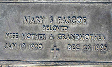PASCOE, MARY S - Mohave County, Arizona | MARY S PASCOE - Arizona Gravestone Photos
