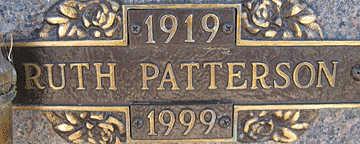 PATTERSON, RUTH - Mohave County, Arizona | RUTH PATTERSON - Arizona Gravestone Photos