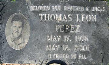PEREZ, THOMAS LEON - Mohave County, Arizona | THOMAS LEON PEREZ - Arizona Gravestone Photos