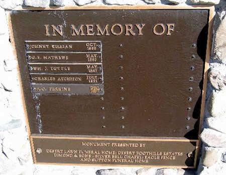 PERKINS, A. O. - Mohave County, Arizona   A. O. PERKINS - Arizona Gravestone Photos