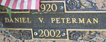 PETERMAN, DANIEL V - Mohave County, Arizona | DANIEL V PETERMAN - Arizona Gravestone Photos