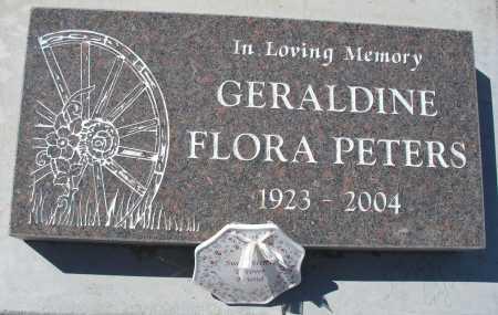 PETERS, GERALDINE FLORA - Mohave County, Arizona | GERALDINE FLORA PETERS - Arizona Gravestone Photos