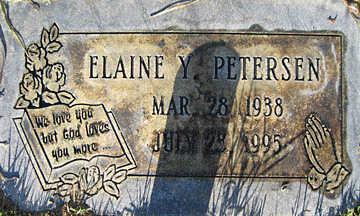 PETERSEN, ELAINE Y - Mohave County, Arizona | ELAINE Y PETERSEN - Arizona Gravestone Photos