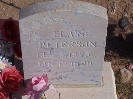 PETERSON, ELAINE - Mohave County, Arizona   ELAINE PETERSON - Arizona Gravestone Photos