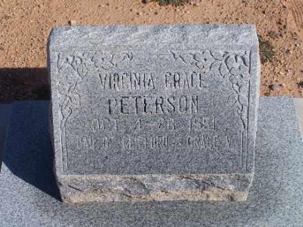 PETERSON, VIRGINIA GRACE - Mohave County, Arizona   VIRGINIA GRACE PETERSON - Arizona Gravestone Photos