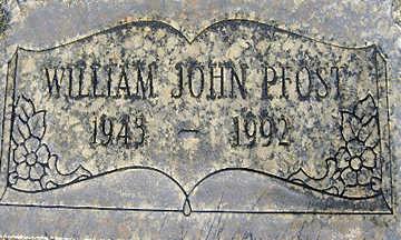 PFOST, WILLIAM JOHN - Mohave County, Arizona | WILLIAM JOHN PFOST - Arizona Gravestone Photos