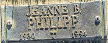 PHILIPP, JEANNE B - Mohave County, Arizona | JEANNE B PHILIPP - Arizona Gravestone Photos