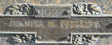 PHILLIPS, JUANITA M - Mohave County, Arizona   JUANITA M PHILLIPS - Arizona Gravestone Photos