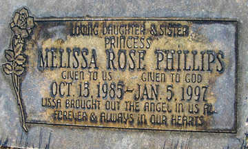 PHILLIPS, MELISSA ROSE - Mohave County, Arizona   MELISSA ROSE PHILLIPS - Arizona Gravestone Photos