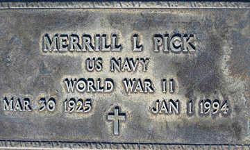 PICK, MERRILL L - Mohave County, Arizona | MERRILL L PICK - Arizona Gravestone Photos