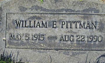 PITTMAN, WILLIAM E - Mohave County, Arizona | WILLIAM E PITTMAN - Arizona Gravestone Photos