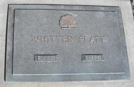 PLATT, WHITTEN - Mohave County, Arizona | WHITTEN PLATT - Arizona Gravestone Photos