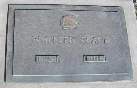 PLATT, WHITTEN - Mohave County, Arizona   WHITTEN PLATT - Arizona Gravestone Photos