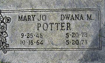 POTTER, DWANA MARIE - Mohave County, Arizona   DWANA MARIE POTTER - Arizona Gravestone Photos