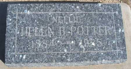 "POTTER, HELEN B. ""NELLIE"" - Mohave County, Arizona   HELEN B. ""NELLIE"" POTTER - Arizona Gravestone Photos"