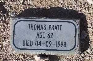 PRATT, THOMAS - Mohave County, Arizona | THOMAS PRATT - Arizona Gravestone Photos