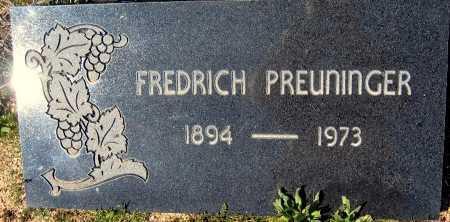 PREUNINGER, FREDRICH - Mohave County, Arizona   FREDRICH PREUNINGER - Arizona Gravestone Photos