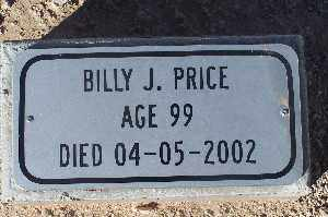 PRICE, BILLY J - Mohave County, Arizona | BILLY J PRICE - Arizona Gravestone Photos