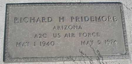 PRIDEMORE, RICHARD H. - Mohave County, Arizona | RICHARD H. PRIDEMORE - Arizona Gravestone Photos
