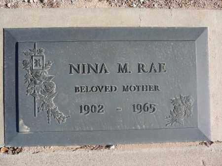 RAE, NINA M - Mohave County, Arizona | NINA M RAE - Arizona Gravestone Photos