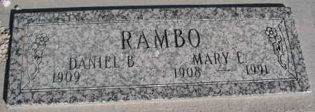 RAMBO, DANIEL B. - Mohave County, Arizona | DANIEL B. RAMBO - Arizona Gravestone Photos