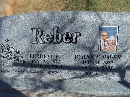 BAUER REBER, BERNICE - Mohave County, Arizona | BERNICE BAUER REBER - Arizona Gravestone Photos