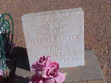 REBER, HAROLD BRYCE - Mohave County, Arizona   HAROLD BRYCE REBER - Arizona Gravestone Photos