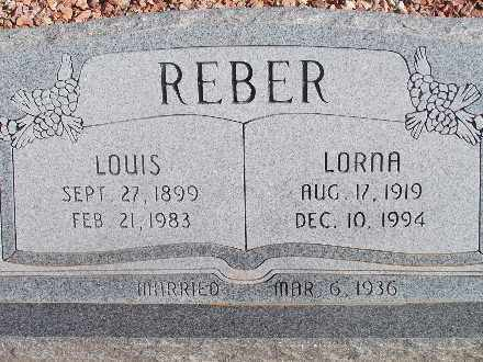 REBER, LOUIS - Mohave County, Arizona | LOUIS REBER - Arizona Gravestone Photos