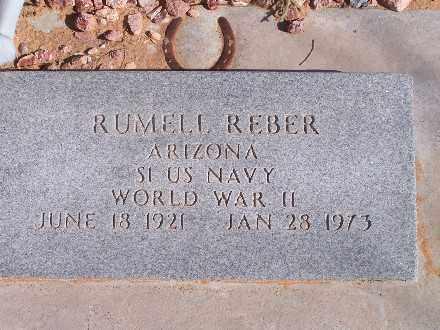 REBER, RUMELL - Mohave County, Arizona | RUMELL REBER - Arizona Gravestone Photos