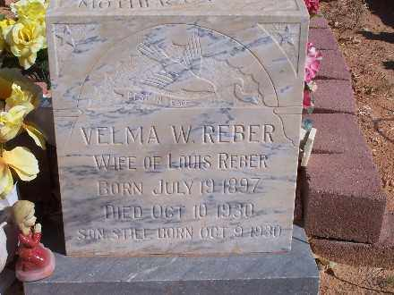REBER, VELMA W - Mohave County, Arizona | VELMA W REBER - Arizona Gravestone Photos