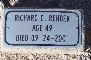 REHDER, RICHARD C - Mohave County, Arizona | RICHARD C REHDER - Arizona Gravestone Photos