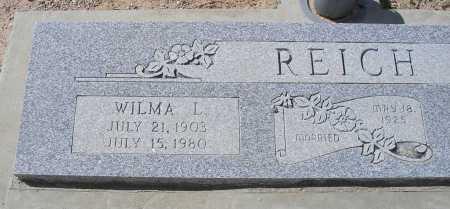 REICH, WILMA L. - Mohave County, Arizona   WILMA L. REICH - Arizona Gravestone Photos