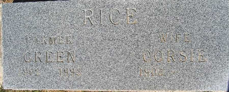 RICE, GREEN - Mohave County, Arizona | GREEN RICE - Arizona Gravestone Photos