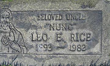 RICE, LEO E - Mohave County, Arizona | LEO E RICE - Arizona Gravestone Photos