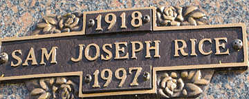 RICE, SAM JOSEPH - Mohave County, Arizona | SAM JOSEPH RICE - Arizona Gravestone Photos