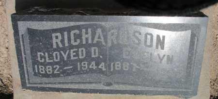 RICHARDSON, CLOYED D. - Mohave County, Arizona | CLOYED D. RICHARDSON - Arizona Gravestone Photos
