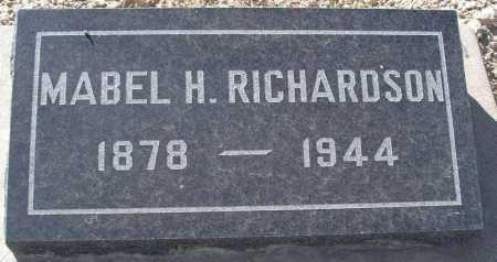 RICHARDSON, MABEL H. - Mohave County, Arizona | MABEL H. RICHARDSON - Arizona Gravestone Photos