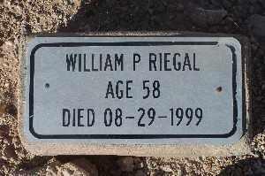 RIEGAL, WILLIAM P - Mohave County, Arizona   WILLIAM P RIEGAL - Arizona Gravestone Photos