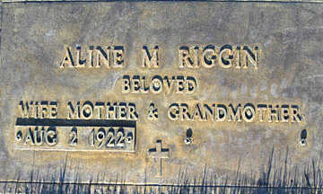 RIGGIN, ALINE M - Mohave County, Arizona | ALINE M RIGGIN - Arizona Gravestone Photos