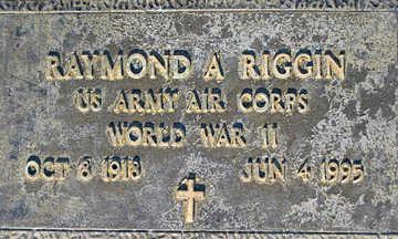 RIGGIN, RAYMOND A - Mohave County, Arizona | RAYMOND A RIGGIN - Arizona Gravestone Photos
