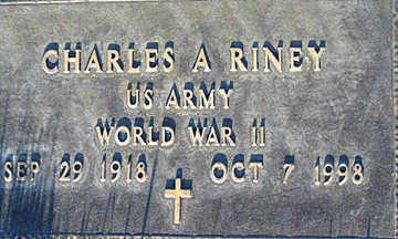 RINEY, CHARLES A - Mohave County, Arizona | CHARLES A RINEY - Arizona Gravestone Photos