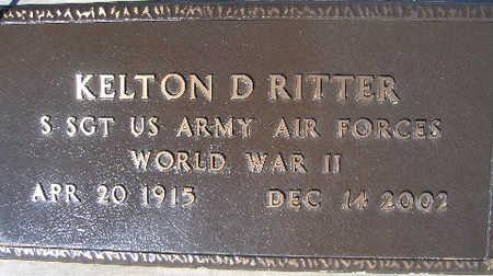 RITTER, KELTON D - Mohave County, Arizona | KELTON D RITTER - Arizona Gravestone Photos