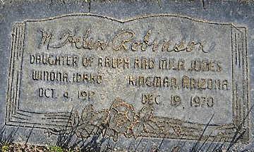 ROBINSON, MARGARET HELEN - Mohave County, Arizona | MARGARET HELEN ROBINSON - Arizona Gravestone Photos