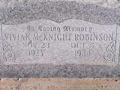 MCKNIGHT ROBINSON, VIVIAN - Mohave County, Arizona | VIVIAN MCKNIGHT ROBINSON - Arizona Gravestone Photos