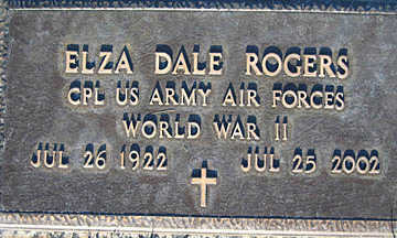ROGERS, ELZA DALE - Mohave County, Arizona | ELZA DALE ROGERS - Arizona Gravestone Photos