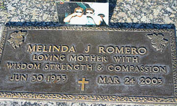 ROMERO, MELINDA J - Mohave County, Arizona   MELINDA J ROMERO - Arizona Gravestone Photos