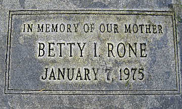 RONE, BETTY I - Mohave County, Arizona | BETTY I RONE - Arizona Gravestone Photos