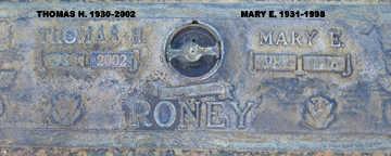 RONEY, MARY E - Mohave County, Arizona | MARY E RONEY - Arizona Gravestone Photos