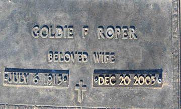 ROPER, GOLDIE F - Mohave County, Arizona | GOLDIE F ROPER - Arizona Gravestone Photos