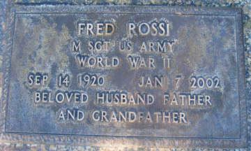 ROSSI, FRED - Mohave County, Arizona | FRED ROSSI - Arizona Gravestone Photos